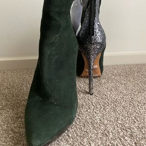 Rachel Roy green and silver glitter ankle boots